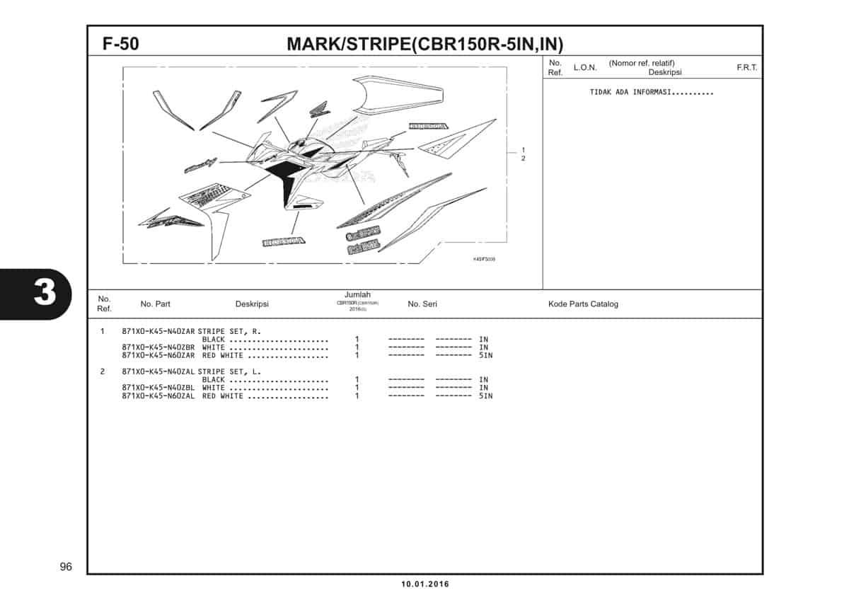 f50 mark stripe cbr150r-3in-1