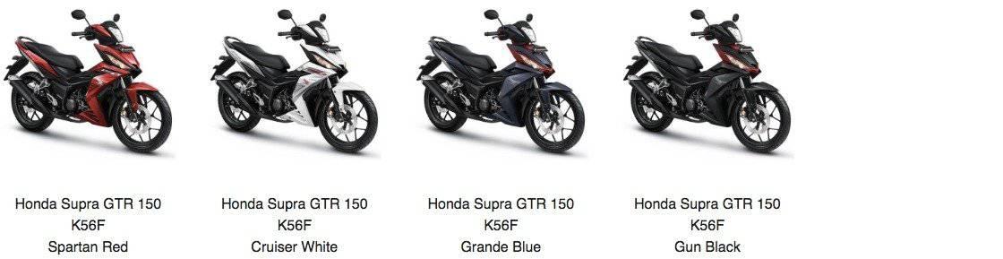 honda supra gtr k56f pilihan model warna