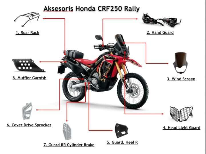 aksesoris resmi honda crf250 rally