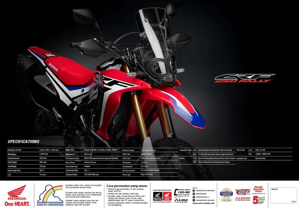 brosur motor honda crf250 rally 4