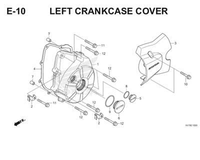 E10 Left Crankcase Cover Katalog Blade K47 Thumb