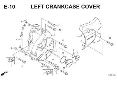 E10 Left Crankcase Cover Thumb