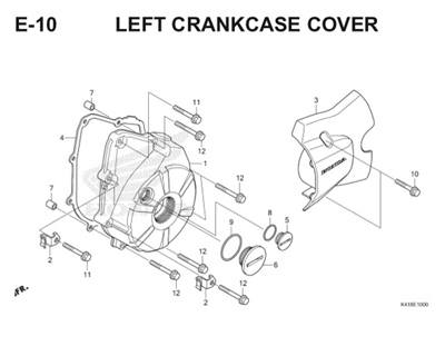 E10 Left Crankcase Cover Thumb