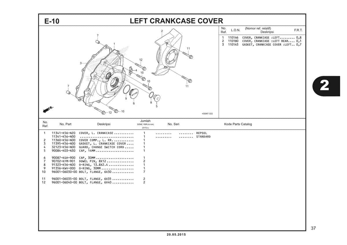 E10 Left Cankcase Cover Thumb