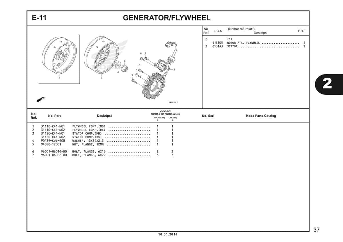 E11 Generator Fly Wheel