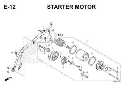 E12 Starter Motor Thumb