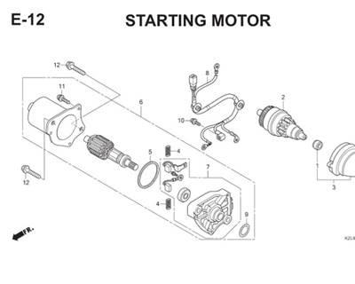 E12 Starting Motor Thumb
