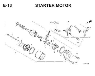 E13 Starter Motor Thumb