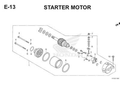 E13 Starting Motor Thumb