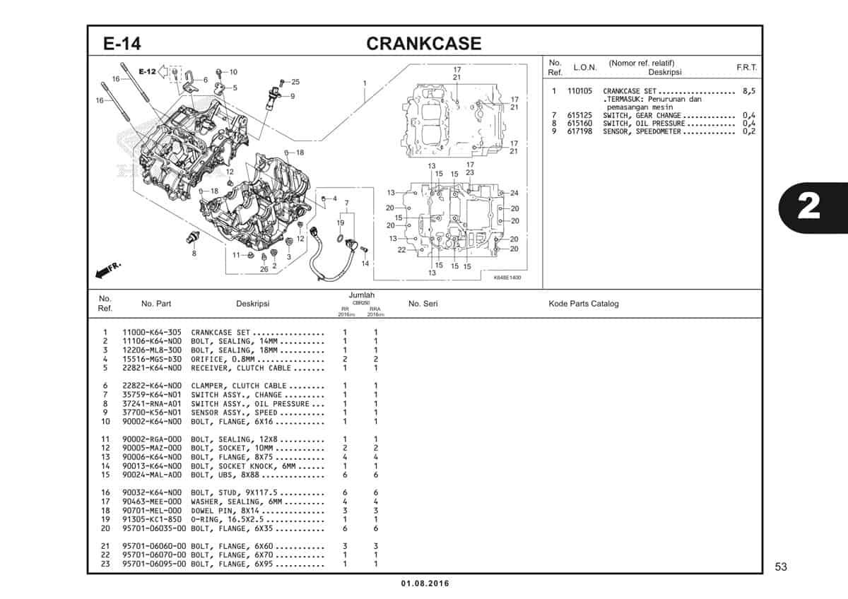 E14 Crankcase 1