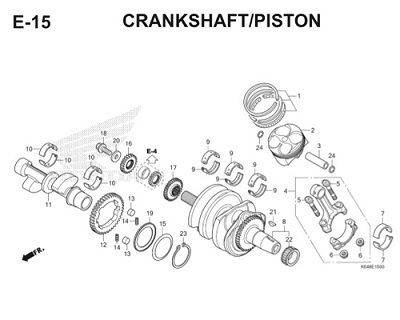 E15 Crankshaft Piston Thumb