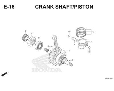E16 Crank Shaft Piston Thumb