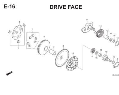 E16 Drive Face Thumb