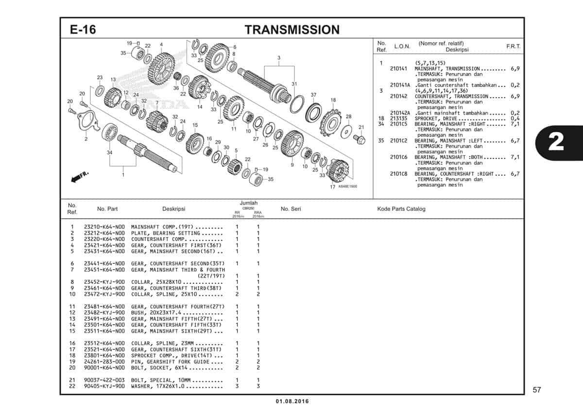 E16 Transmission 1