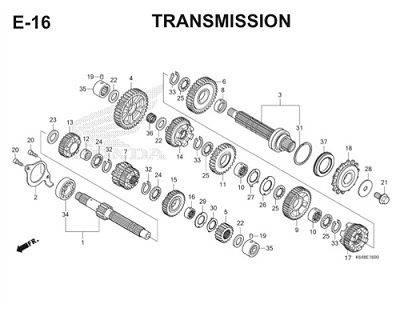 E16 Transmission Thumb