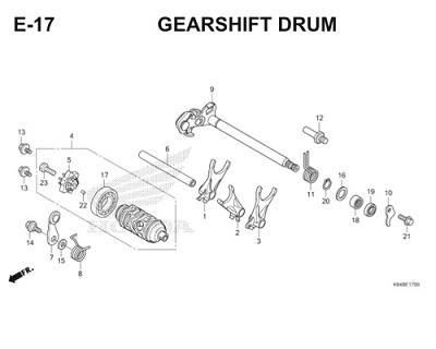 E17 Gearshift Drum Thumb