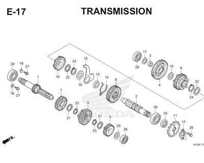 E17 Transmission Thumb