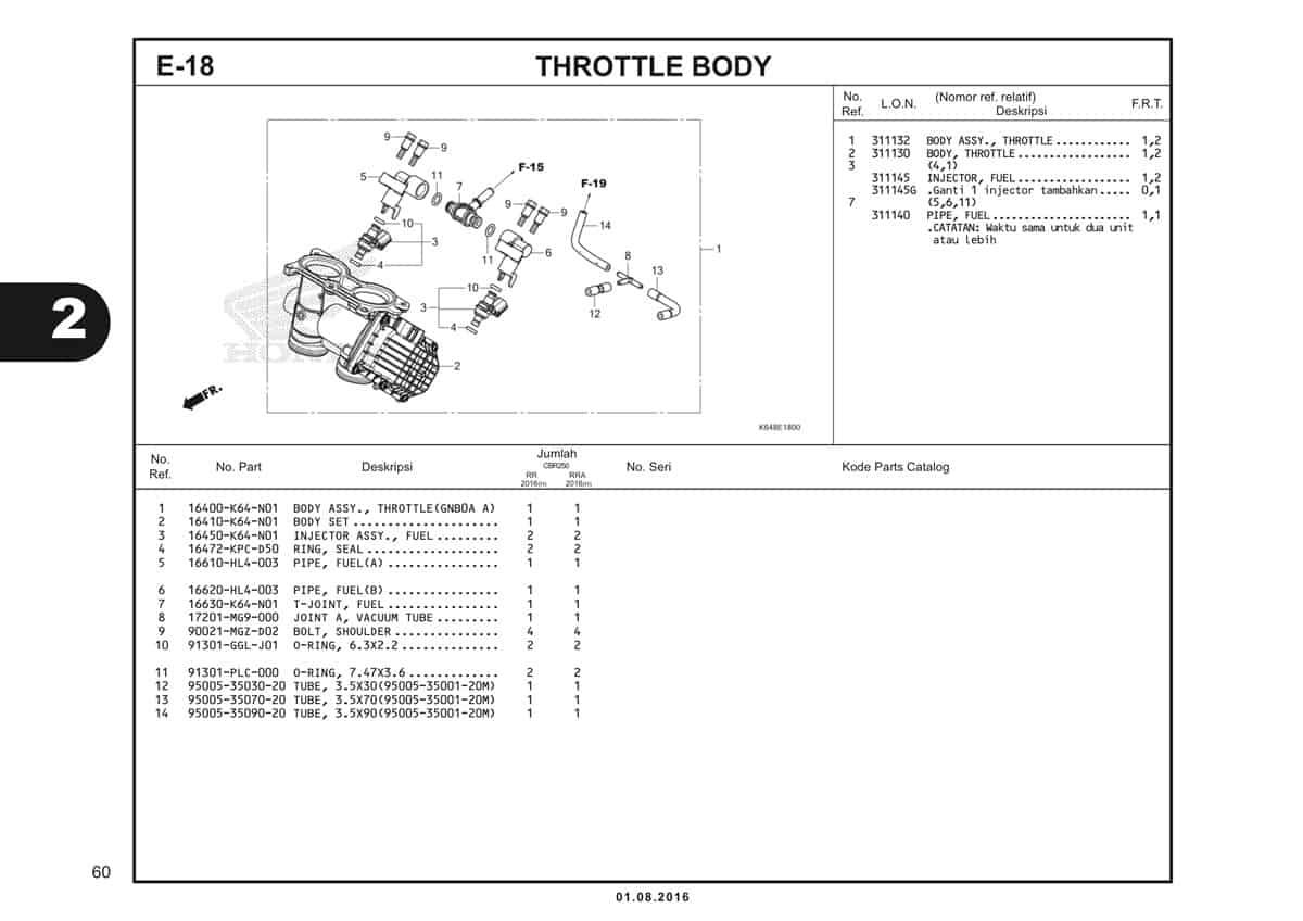 E18 Throttle Body