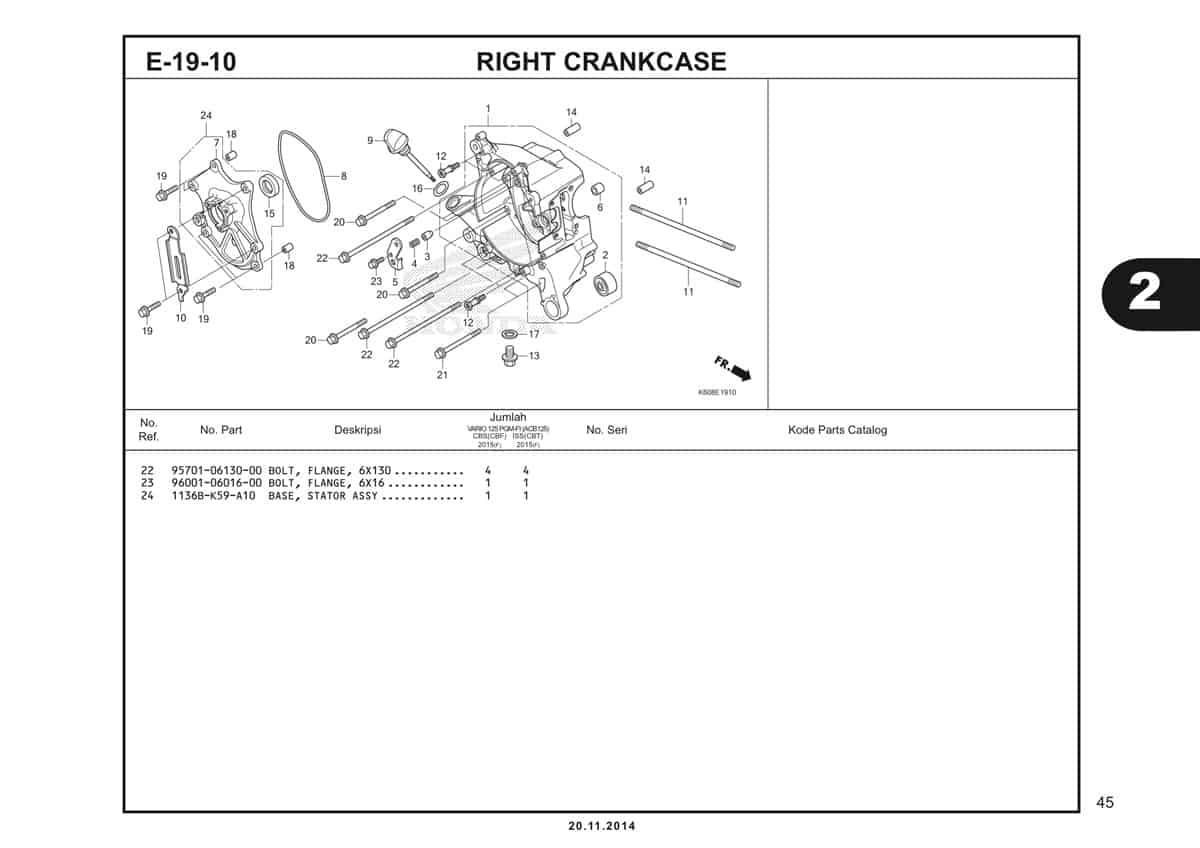 E19 10 Right Crankcase 2