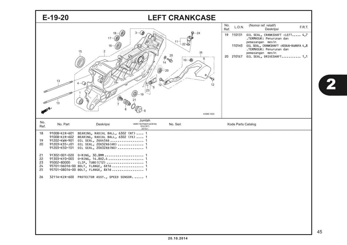 E19 20 Left Crankcase 2