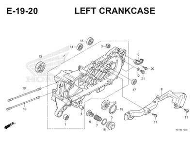 E19 20 Left Crankcase Thumb
