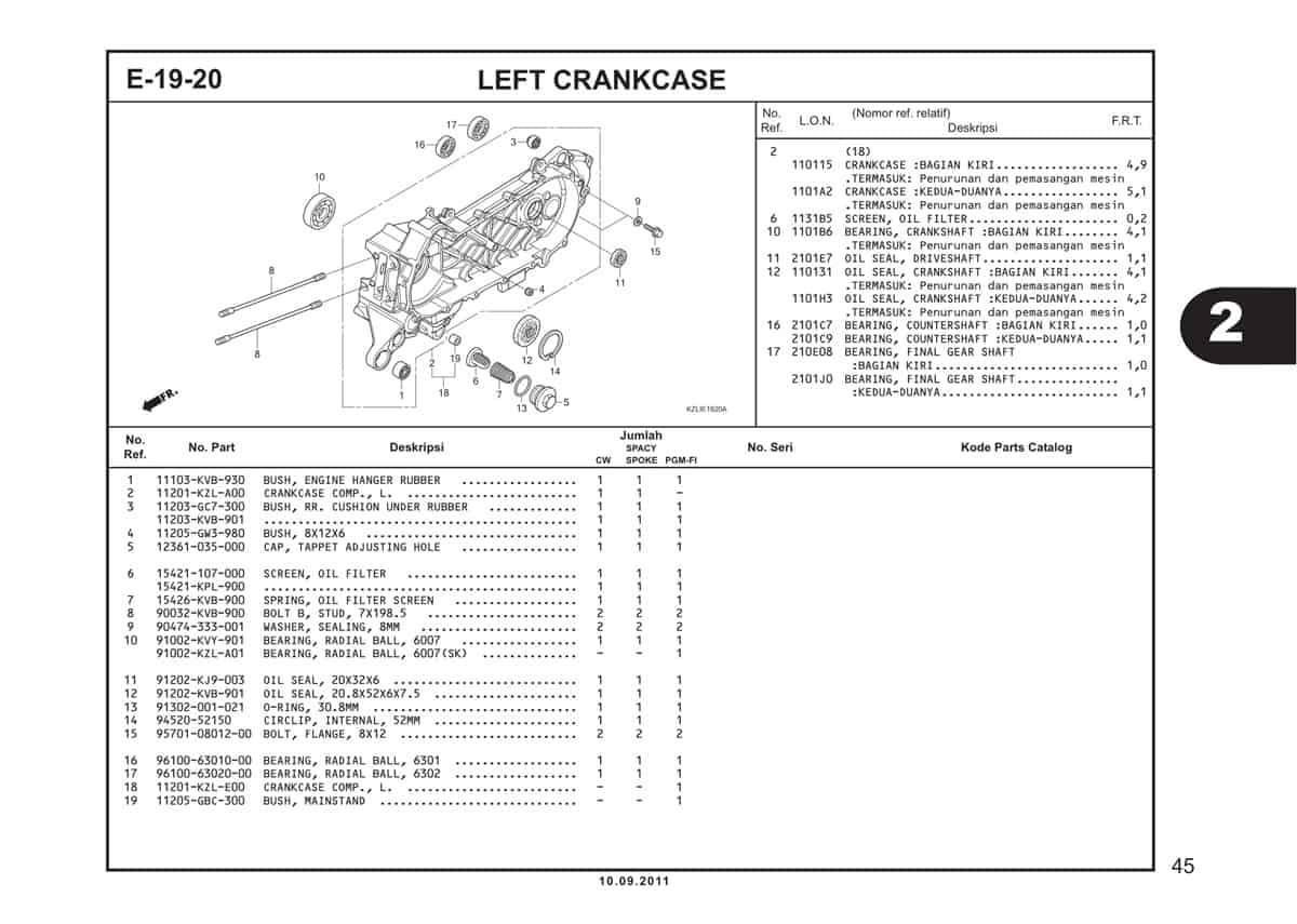 E19 20 Left Crankcase