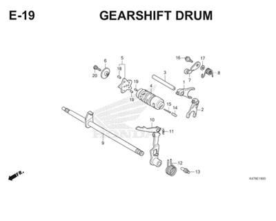 E19 Gearshift Drum Katalog Blade K47 Thumb
