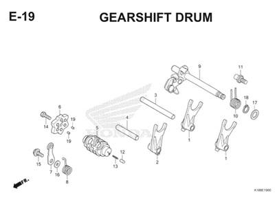 E19 Gearshift Drum Thumb