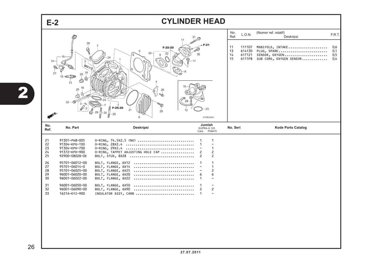 E2 Cylinder Head 2