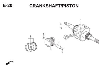 E20 Camshaft Piston Thumb