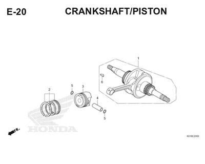 E20 Crankshaft Piston Thumb