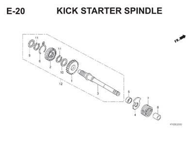 E20 Kick Starter Spindle Thumb