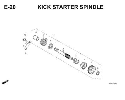 E20 Kick Starter Spindle Thumb