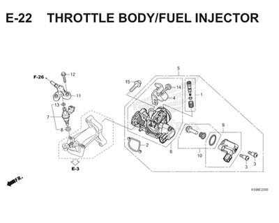 E22 Throttle Body Fuel Injector Thumb