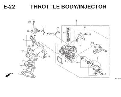 E22 Throttle Body Injector Thumb