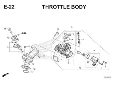 E22 Throttle Body Thumb