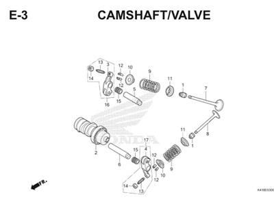 E3 Camshaft Valve Thumb
