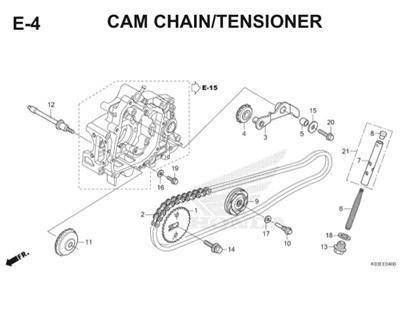 E4 Cam Chain Tensioner Thumb