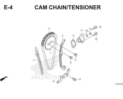 E4 Camchain Tensioner Thumb
