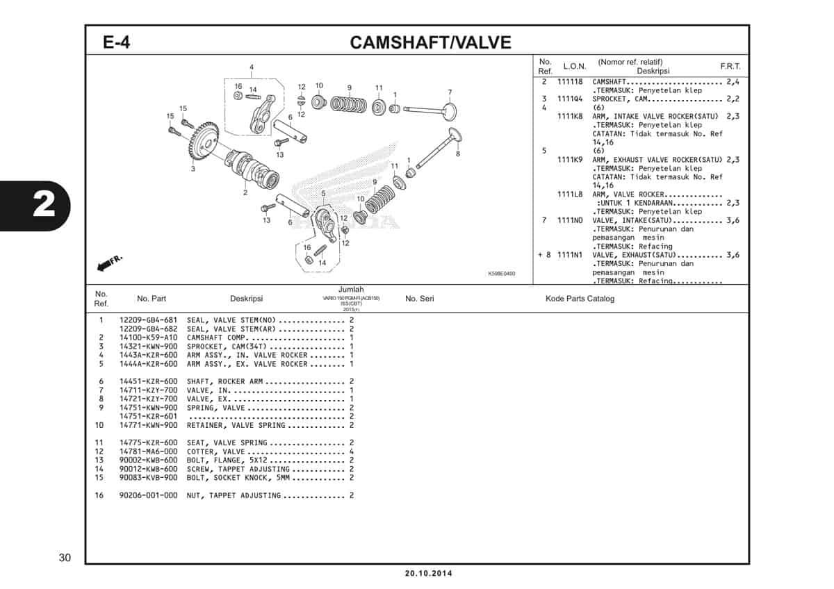 E4 Camshaft Valve 1