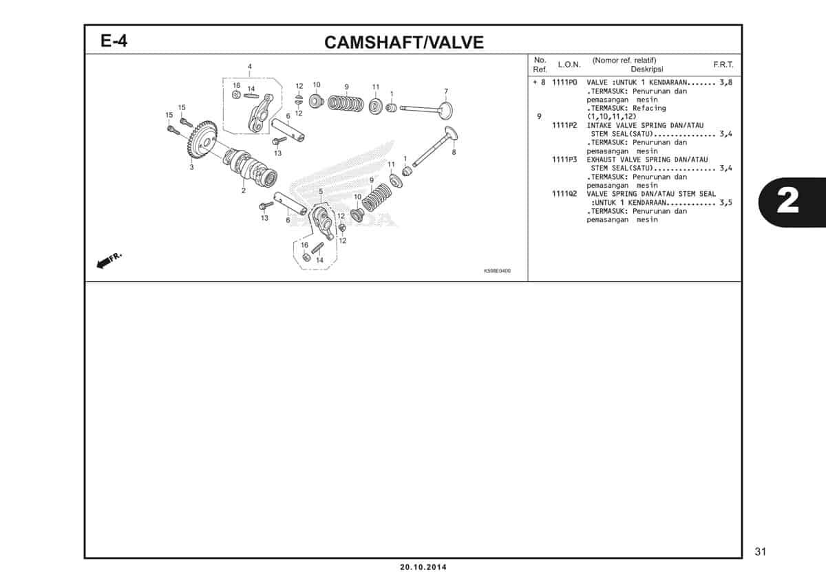 E4 Camshaft Valve 2
