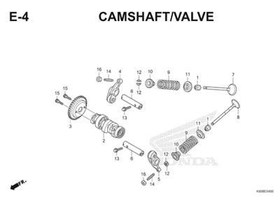 E4 Camshaft Valve Thumb