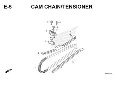 E5 Cam Chain Tensioner Thumb