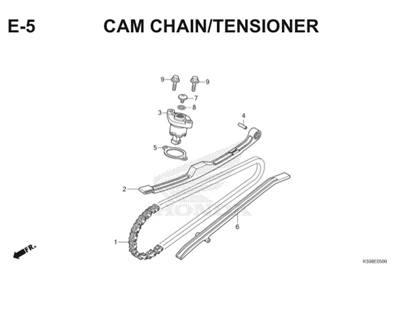 E5 Camchain Tensioner Thumb