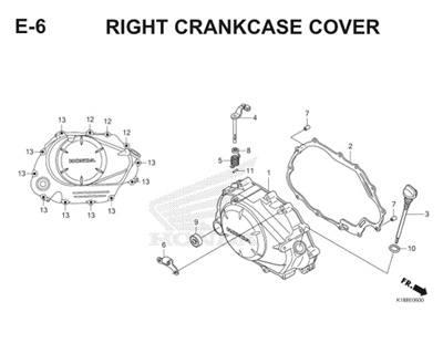 E6 Crankcase Cover Thumb