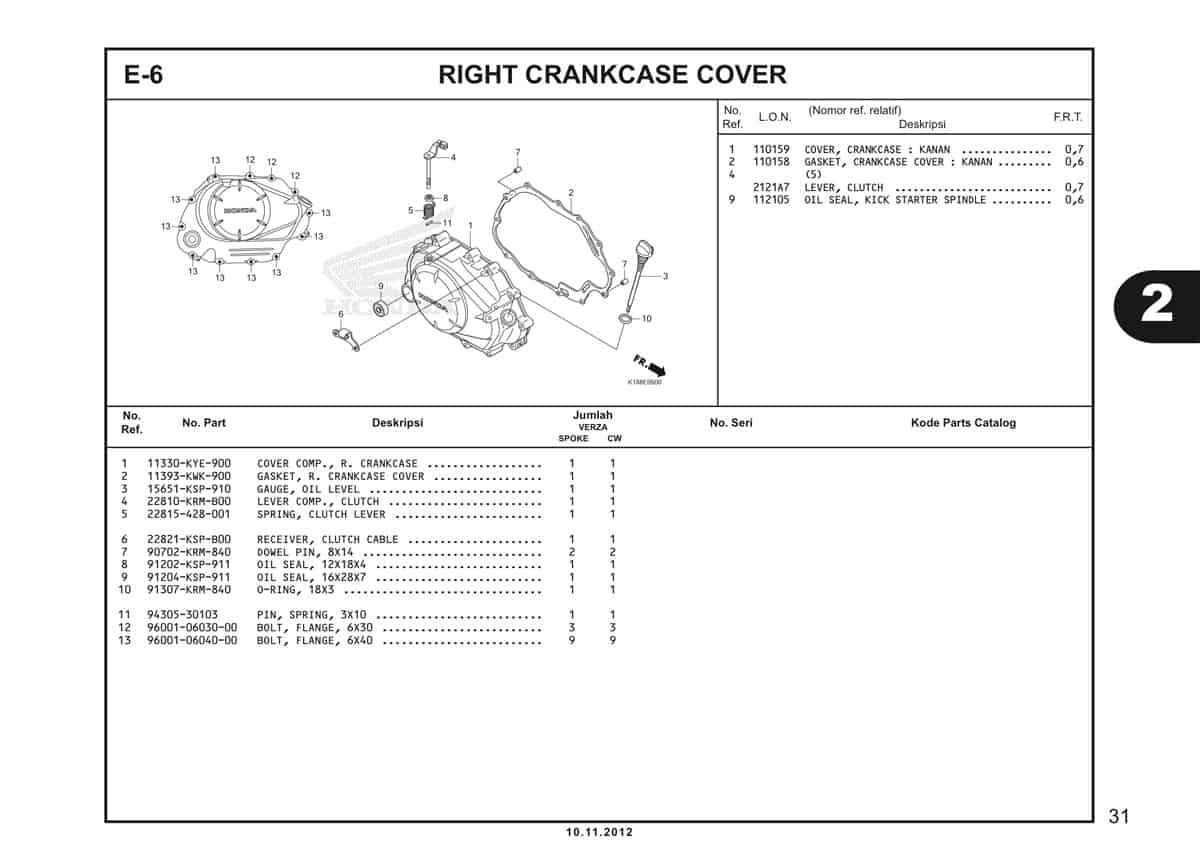 E6 Crankcase Cover
