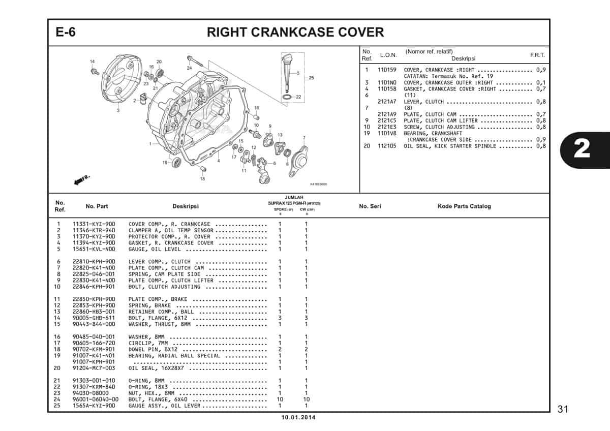 E6 Right Crankcase Cover