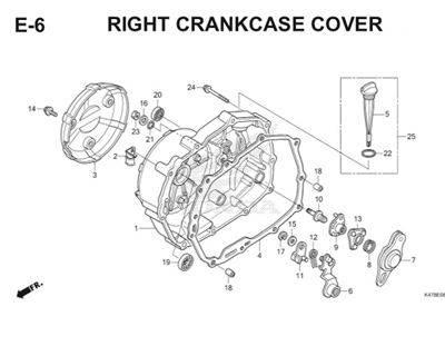 E6 Right Crankcase Cover Katalog Blade K47 Thumb