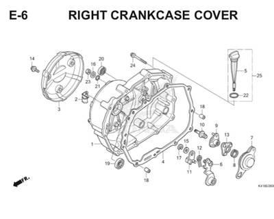 E6 Right Crankcase Cover Thumb