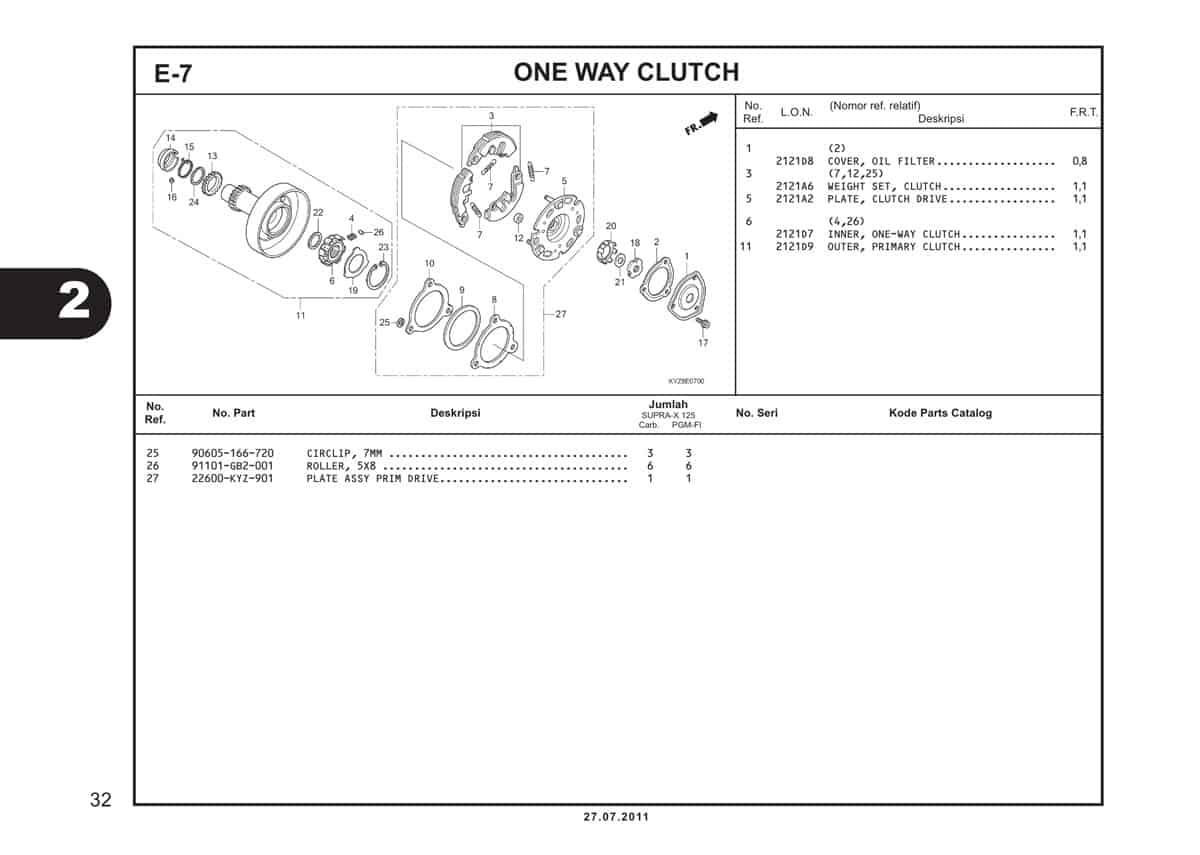 E7 One Way Clutch 2